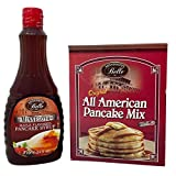 Pack Mississippi Belle orig. American Style Pancake mix 1000g y Pancake syrup 710 ml