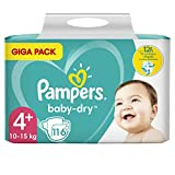 Pampers Baby-dry pañales, 4, 116 pcs, unisex