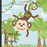 Guest Book: Gorgeous Monkey Theme Party Guest Book Includes Gift Tracker and Picture Memory Section (Monkey...